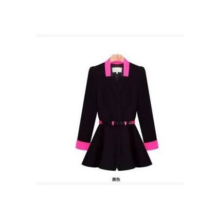 韩版气质Ol修身小西装 长袖糖果色女装外套秋秋季新品1028