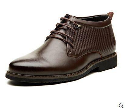 潮流保暖棉鞋高邦男士商务正装棉皮鞋冬季高帮鞋男鞋子包邮1110