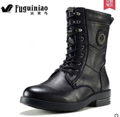 冬季新款保暖短靴真皮靴男棉靴马丁靴子男雪地加毛军靴 包邮1110