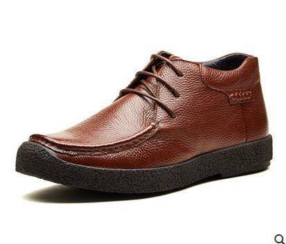 秋冬季男旅游鞋棉皮鞋商务休闲鞋男士棉鞋保暖男鞋加绒皮鞋包邮1110