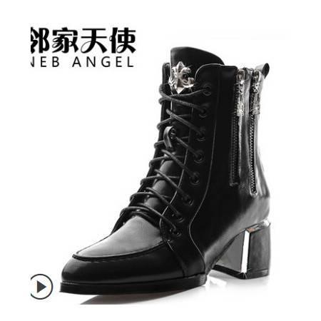 2014新款短靴女春秋季女鞋英伦女靴子单靴裸靴冬 粗跟高跟马丁靴