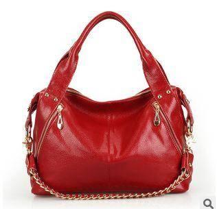 链条包手提单肩斜挎女包三用包包新款潮欧美牛皮强士利包邮1211
