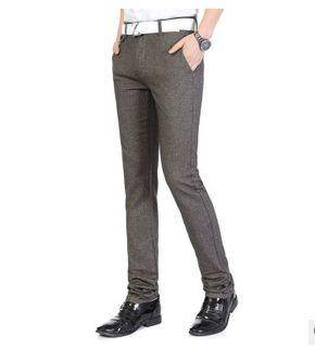 新款男装男式小直筒抓毛男长裤子男式韩版裤潮男哈伦裤龙仕顿包邮1218