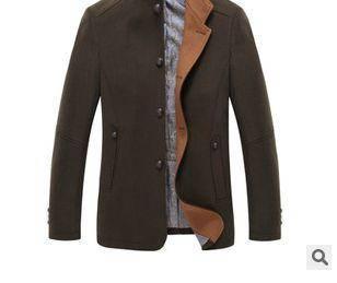 男士立领休闲夹克衫秋冬新款男式羊毛呢夹克外套龙仕顿包邮1218