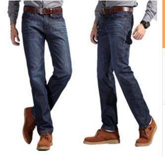 直筒拉链开襟修身男士牛仔长裤普通款长裤品牌男裤龙仕顿1222
