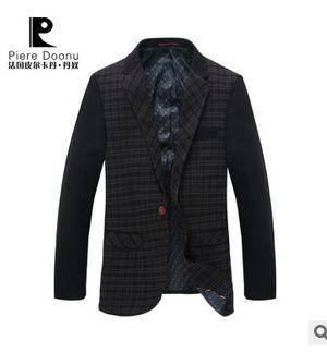 品牌西服男 男式商务休闲西装正品长袖西服 时尚黑色男龙仕顿包邮1222
