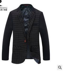 高端商务单西羊绒外套男西服品牌男装秋冬新款男式西装龙仕顿包邮1222