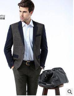 商务休闲羊毛单西装外套西装新款秋冬正品男士西装龙仕顿包邮1225
