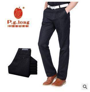 时尚潮流纯色长裤秋季男装新款加厚宽松男士休闲裤龙仕顿包邮1226