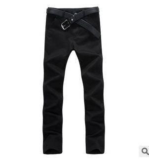 黑灰色韩版男式牛仔长裤男款新款长裤韩版修身直筒裤四季款 龙仕顿包邮1230