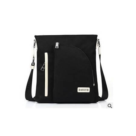 新款黑白搭配时尚单肩包 斜挎包 休闲男包 男士包包包型