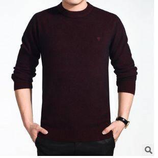 韩版纯色半高领长袖套头保暖貂绒套头毛衣时尚新款男式毛衣 永盛泰包邮0114