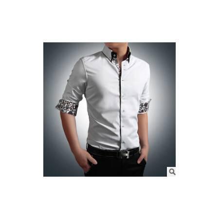 秋冬新款男士衬衫 时尚商务百搭大码男式长袖衬衫