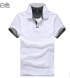 新品夏款拼接翻领男式半袖时尚休闲纯色短袖男士平板t恤永盛泰