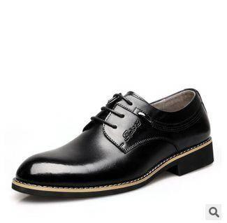 休闲皮鞋男士皮鞋真皮系带男鞋2015新款男士商务正装皮鞋批发休闲皮鞋男士皮鞋真皮系带男鞋白象包邮