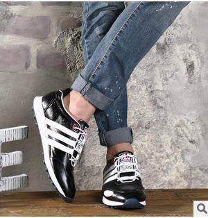 头层牛皮休闲男士皮鞋日常男单鞋子新款韩版英伦男鞋白象包邮