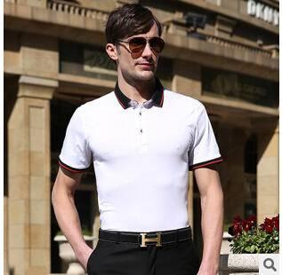 15年夏季新款男士短袖t恤 纯色百搭时尚男式丝光棉免烫T恤衫永盛泰