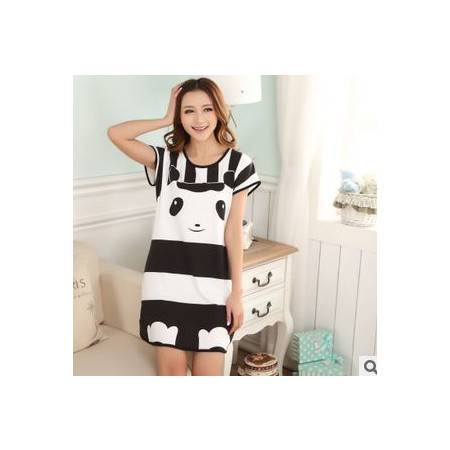 夏季睡裙女士睡衣家居服不起球不褪色休闲爆款活动低价牛奶丝短袖旭宏睡衣