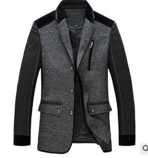 西装领男修身外套 商务男士薄款外套新款男式春秋夹克衫祥盛包邮