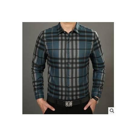 秋装薄款条纹衬衣 时尚休闲棉衬衫新款男士长袖衬衫祥盛