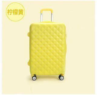 甜美淑女拉杆箱化妆箱旅行箱万向轮密码行李箱女直销韩国钻石面 美琪包邮