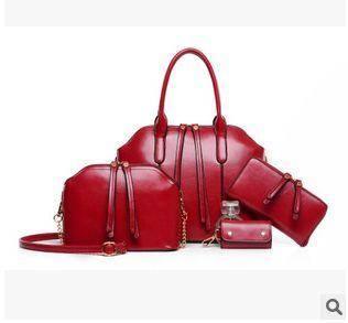 休闲子母女士潮包包单肩斜跨手提四件套新款欧美时尚大牌征途