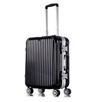 行李箱万向轮男女20寸登机箱包硬箱商务拉杆箱铝框旅行箱美琪包邮