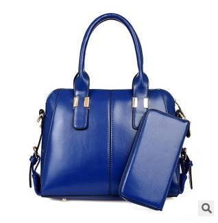 女士手提斜跨子母包2015欧美时尚新款油蜡皮单肩包征途包邮