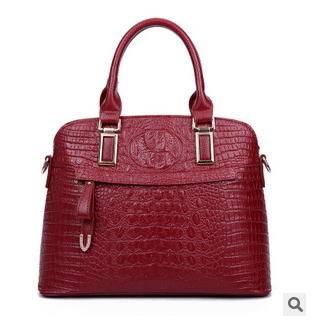 单肩斜跨女士包包欧美时尚新款鳄鱼纹手提包征途包邮