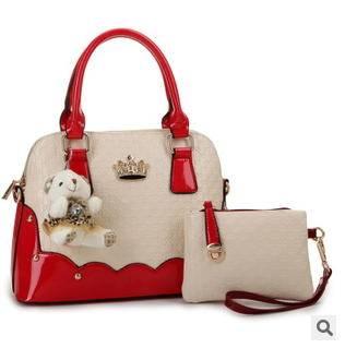 单肩斜挎女士手提包 女包2015新款欧美时尚镶钻子母包 征途包邮