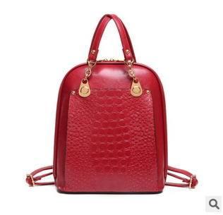 单肩手提大容量背包 女包新款欧美时尚撞色双肩包 征途包邮