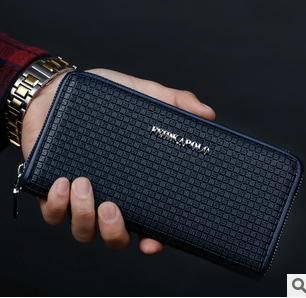 商务休闲多卡位钱包欧美时尚新款格纹长款手拿包征途