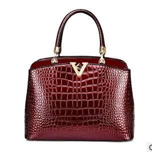 女士单肩斜挎包2015新款欧美时尚鳄鱼纹高档手提女包征途包邮