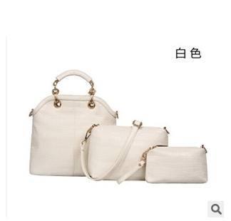 单肩斜跨手提三件套新款欧美潮流风范鳄鱼纹时尚子母女士包包征途包邮