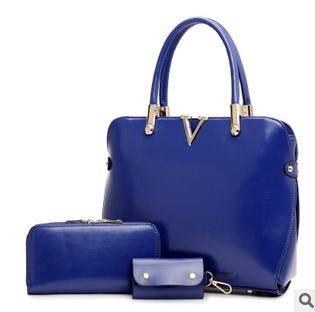欧美时尚单肩斜跨高档手提包2015爆款子母三件套女包征途包邮