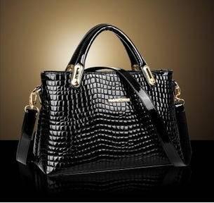 时尚潮流美约休闲鳄鱼纹女士包包单肩斜跨手提包欧美新款征途包邮