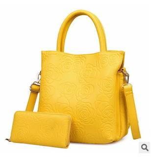 单肩斜挎多隔层大容量女包欧美时尚新款女士高档子母包征途包邮