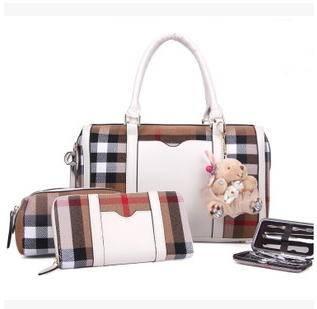 子母四件套手提包单肩斜跨格子包包欧美时尚新款征途包邮