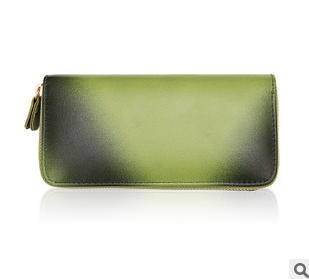 女士钱包新款欧美时尚单拉链女士渐变色钱包手拿包征途