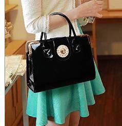 时尚单肩手提包亮色大亮钻装饰女士包包2014年新款韩版女包征途包邮