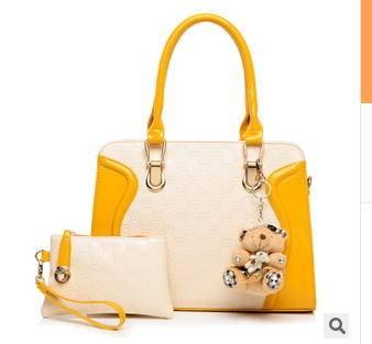 单肩斜跨手提两件套韩版时尚休闲潮流新款小熊子母女士包包征途包邮