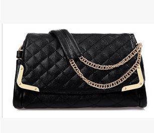 单肩斜跨手提女士包包2015新款韩版时尚潮流包菱格纹女包征途
