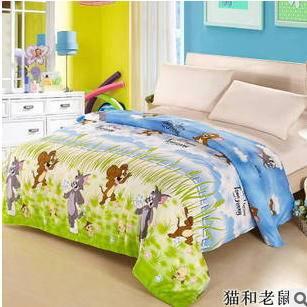 纯棉韩式可爱卡通花纹被套条纹被罩床上用品卓品包邮