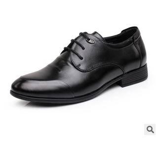 商务品牌男鞋新款男士日常休闲鞋低帮系带皮鞋富宏包邮