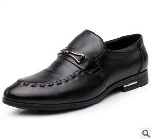 简约时尚真皮头层牛皮男鞋男式商务系带休闲牛筋底单鞋富宏包邮