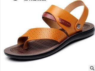 沙滩鞋 舒适防滑耐磨男士凉拖季休闲夹脚人字拖富宏