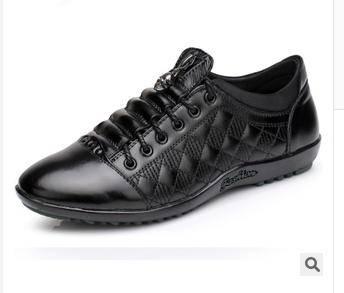 系带舒适牛皮男士单鞋皮鞋春季夏季新款休闲商务男鞋富宏包邮