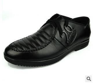 日常休闲真皮皮鞋英伦商务皮鞋低帮鞋男新款男式休闲鞋子男鞋富宏包邮