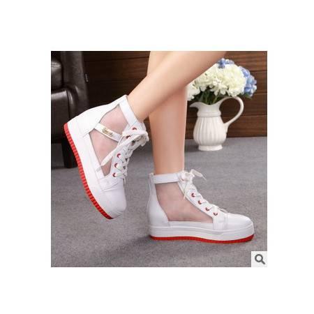 女士韩版网纱糖果色彩透气增高鞋春夏新款承发包邮