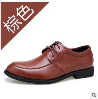 休闲品牌男鞋英伦潮温州男鞋2015年男士新款真皮商务皮鞋承发